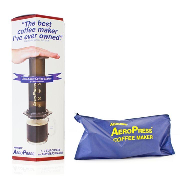 Aerobie Aeropress Coffee Maker With Tote Storage Bag : Buy Aerobie Aeropress Coffee Maker + Tote Bag - 11 Pack from TKC Sales Ltd.