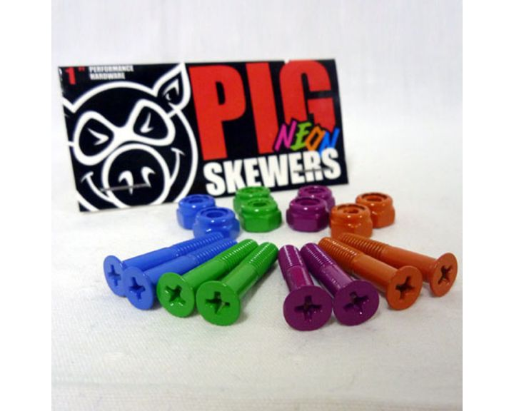 "Pig Neon 1"" Phillips Bolts"