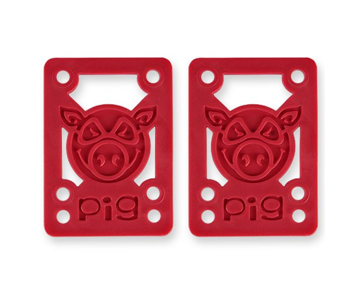 "Pig Piles Shockpads 1/8"" Risers Red"