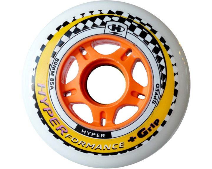 Hyper Performance Wheels 80mm White - 8 Pack