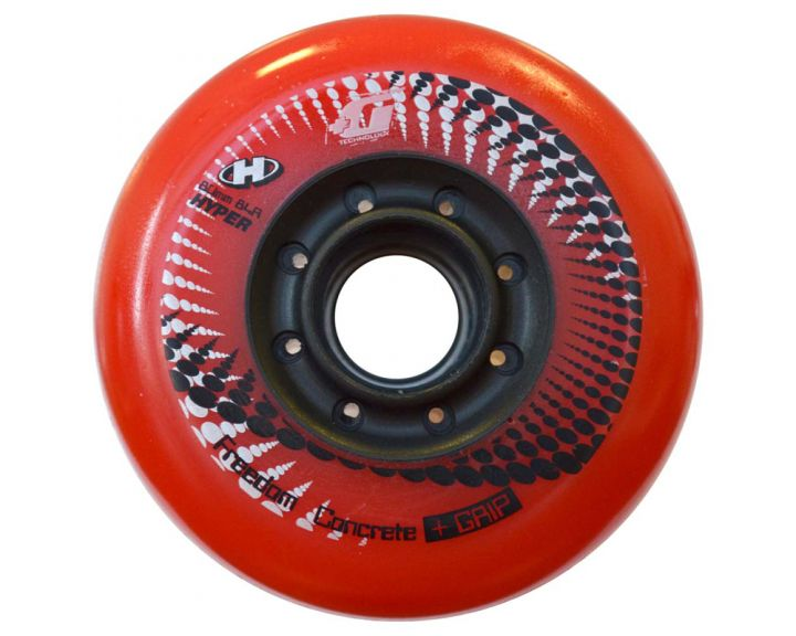 Hyper Concrete Wheels 76mm Red - 4 Pack