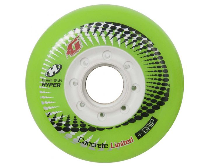 Hyper Concrete Wheels 80mm Green - 4 Pack
