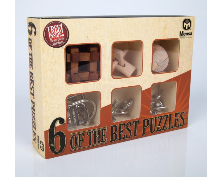 Mensa Six of the Best Puzzles - 6 Pack