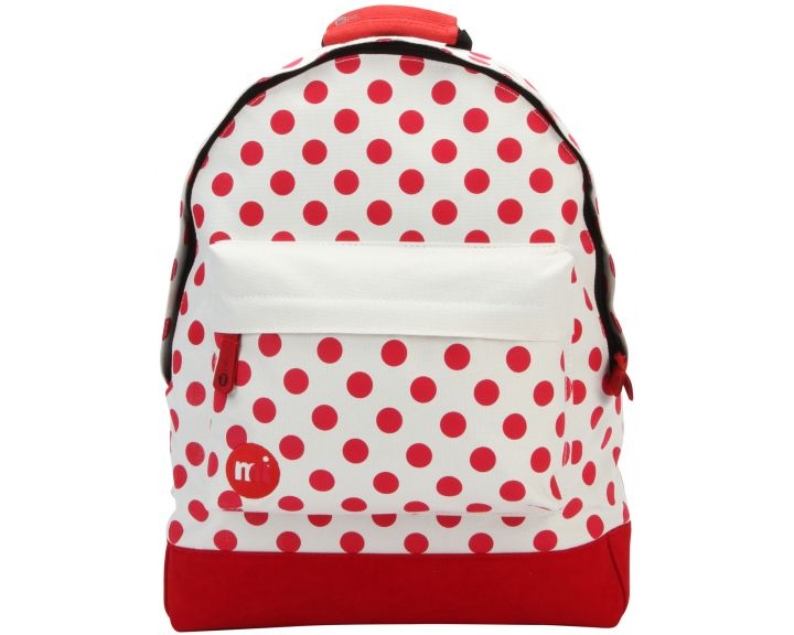 Mi-Pac Backpack All Polkadot Natural/Red
