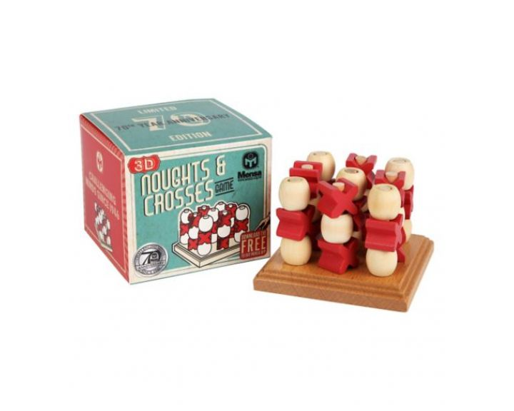 Mensa 3D Noughts & Crosses - 6 Pack