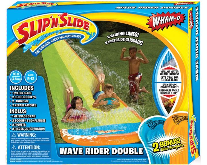 Slip N' Slide Wave Rider Double with Boogies - 4 Pack