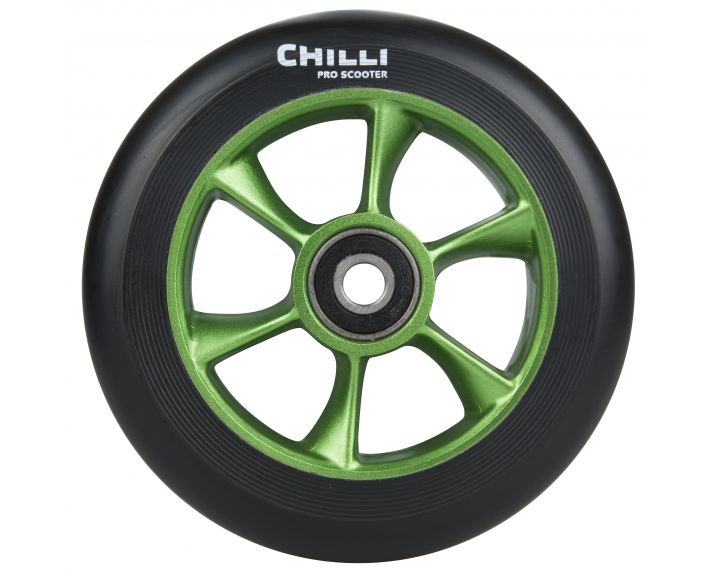 Chilli Turbo Wheel 110mm Black/Green