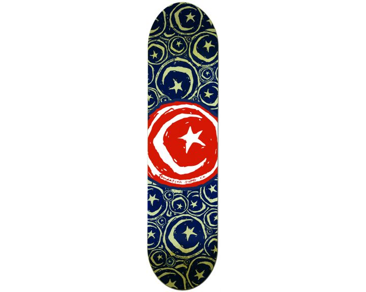 Foundation Star & Moon Stickered Red 8.5