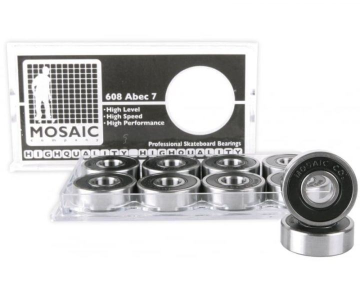 Mosaic Super 1 Abec 7 Bearings Black