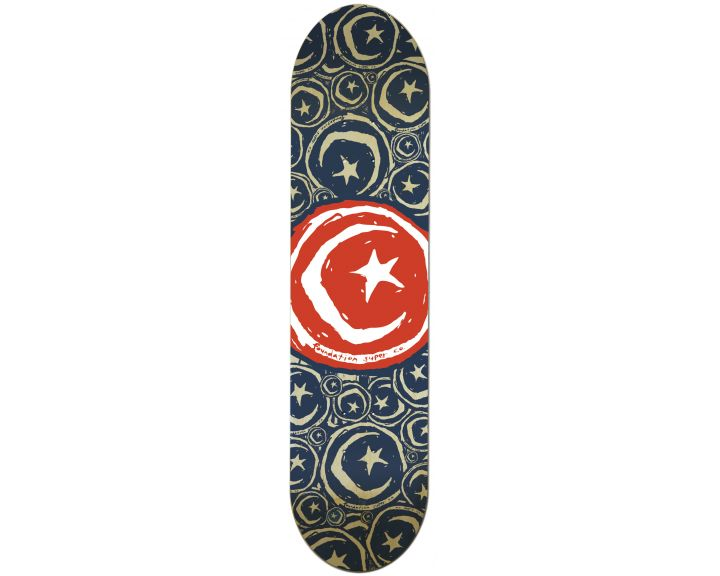 Foundation Star & Moon Stickered Red 8.75