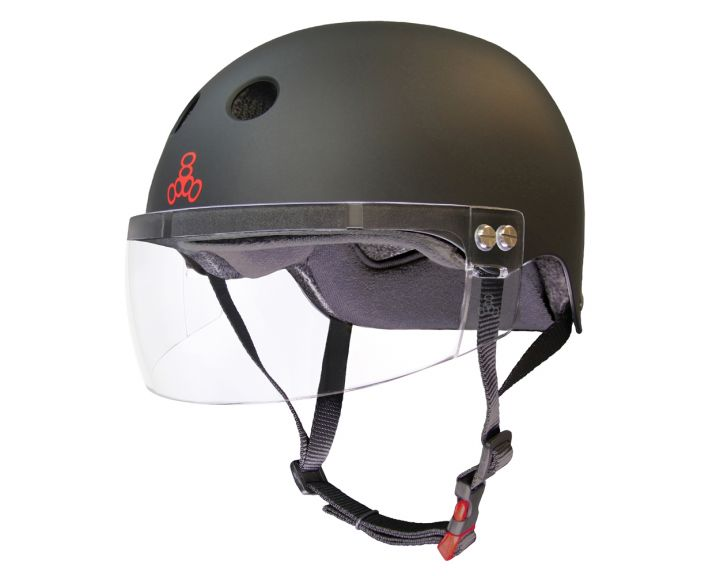Triple 8 Sweatsaver Cert Visor Black