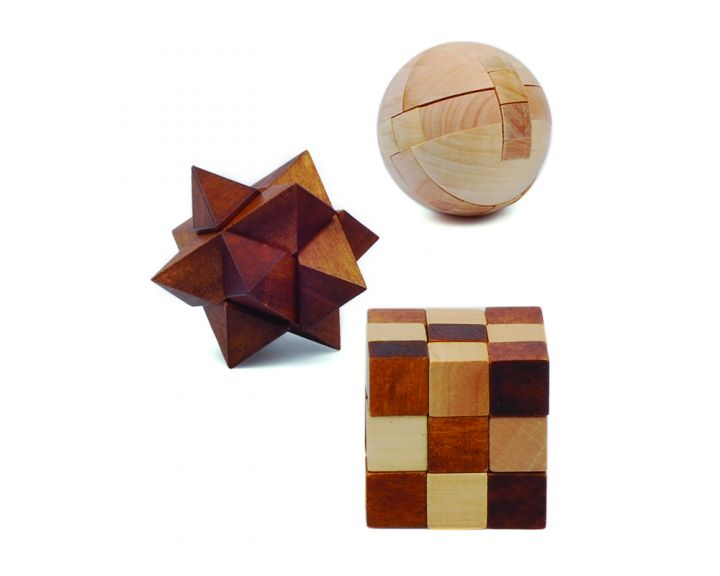 Mensa Pocket Puzzles Wooden - 24 Pack